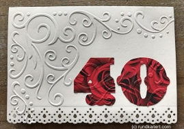 Karte Geburtstag 40