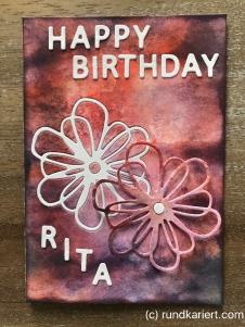 Karte Geburtstag Rita Sizzix Distress Ink
