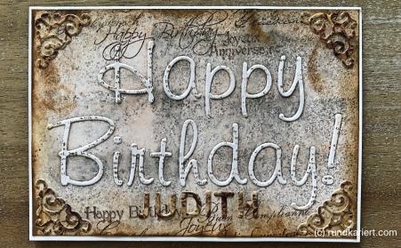 Karte Geburtstag rundkariert