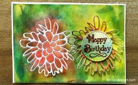 Karte Geburtstag Sizzix Aquarell Blume