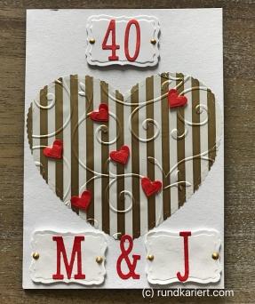Karte zur 40. Hochzeit - Anleitung - DIY - basteln