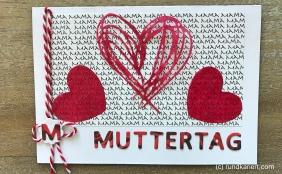 Karte Mutterrag Sizzix Herzen