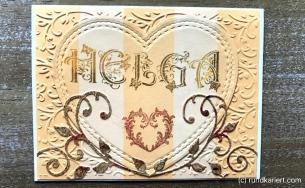 Karte Muttertag Sizzix Distress Herz