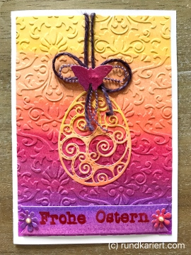 Karte Ostern sizzix embossing Osterei