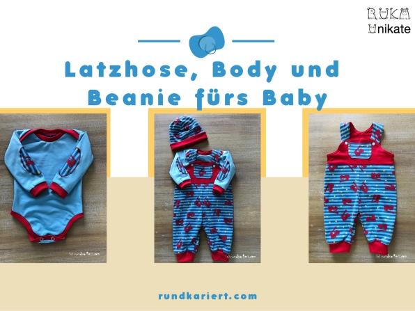 Latzhose Wendebeanie Body fürs Baby Schnittmuster Klimperklein
