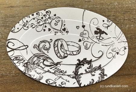 Karte Hochzeit Skadi Ovale gestempelt