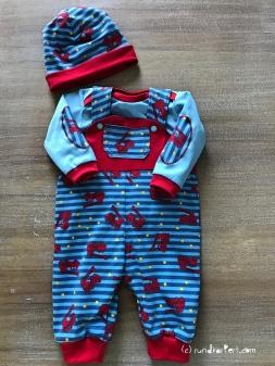 Latzhose Body Wendebeanie Baby
