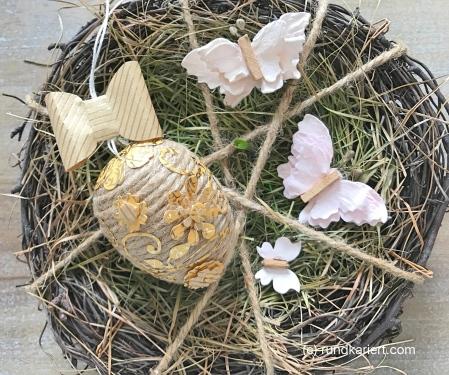 Ei Ostern Paketschnur Ornamente Geschenkpapier