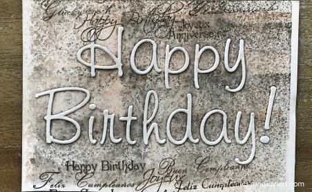 Karte Geburtstag Judith prägen