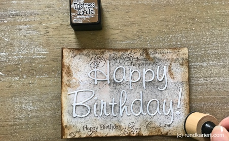 Karte Geburtstag Judith Vintage Rand