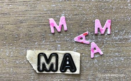 Karte Muttertag Sizzix Aquarell Kreise Buchstaben
