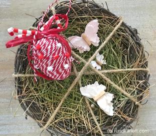 Osterei Bügelperlen Paketschnur