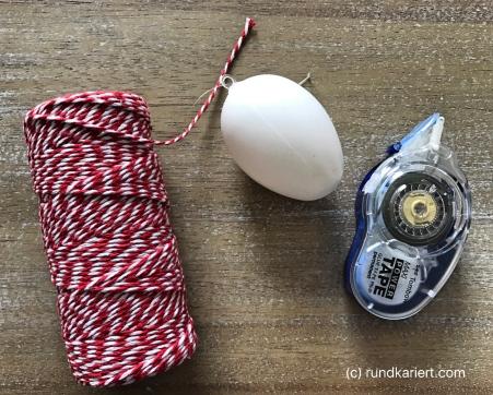 Osterei Knoten Material