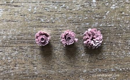 Osterei Perlenschnur Quilling Blumen