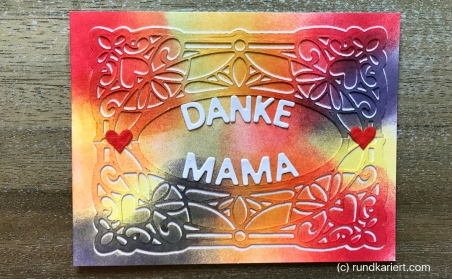 Karte Muttertag Danke Sizzix Distress Ink