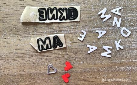 Karte Muttertag Rahmen Buchstaben