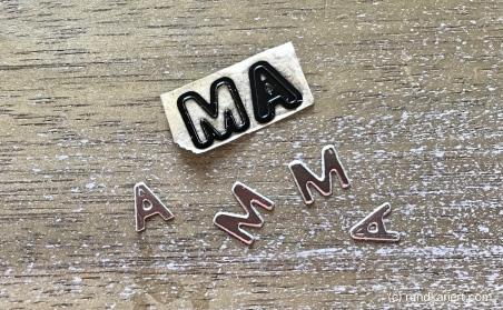 Konservendose Muttertag Buchstaben