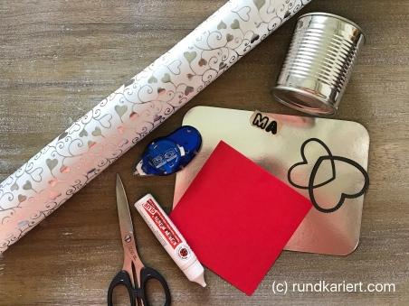 Konservendose Muttertag Material