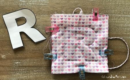 Mobile DIY Baby nähen personalisiert Buchstaben Volumenvlies