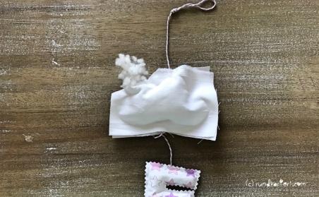 Mobile DIY Baby nähen personalisiert Wolken