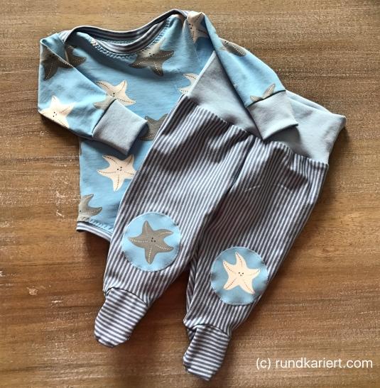 Nähen Baby Body Freebook