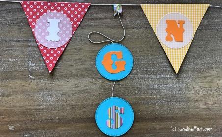 Personalisierte Girlande zum Kindertag für jedes Jahr Kreise vornamen