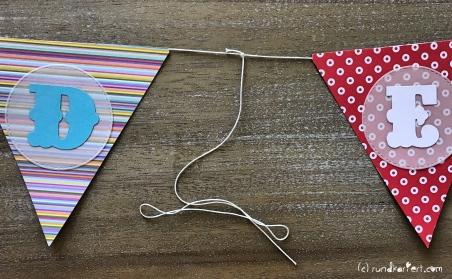 Personalisierte Girlande zum Kindertag für jedes Jahr Paketschnur