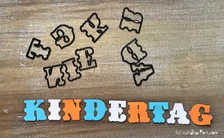 Personalisierte Girlande zum Kindertag für jedes Jahr Sizzix Buchstaben