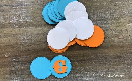 Personalisierte Girlande zum Kindertag für jedes Jahr sizzix Kreise Vornamen