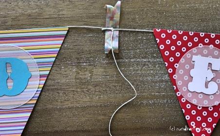 Personalisierte Girlande zum Kindertag für jedes Jahr Washi Tape Wimpelkette