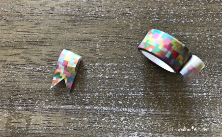 Personalisierte Girlande zum Kindertag für jedes Jahr Washi Tape