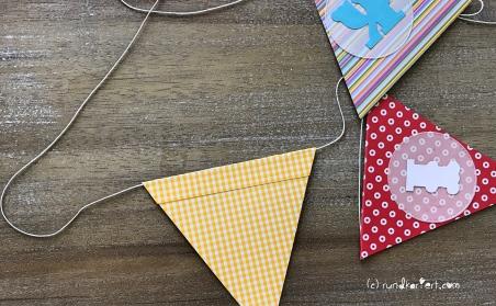 Personalisierte Girlande zum Kindertag für jedes Jahr Wimpel kleben
