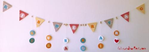 Personalisierte Girlande zum Kindertag für jedes Jahr Wimpelkette DIY