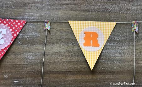 Personalisierte Girlande zum Kindertag für jedes Jahr Wimpelkette Washi Tape
