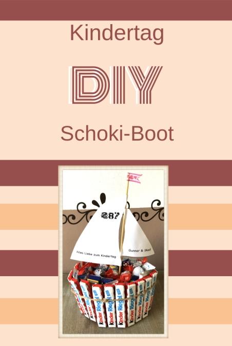 Segelboot Kindertag Kinderschokolade DIY