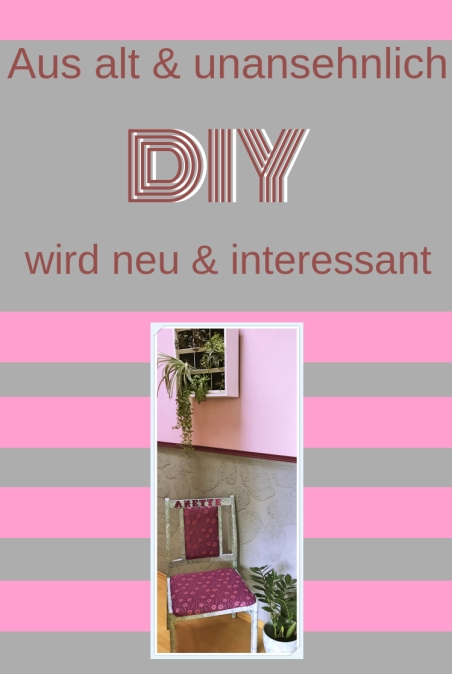 Stuhl DIY Decoupage