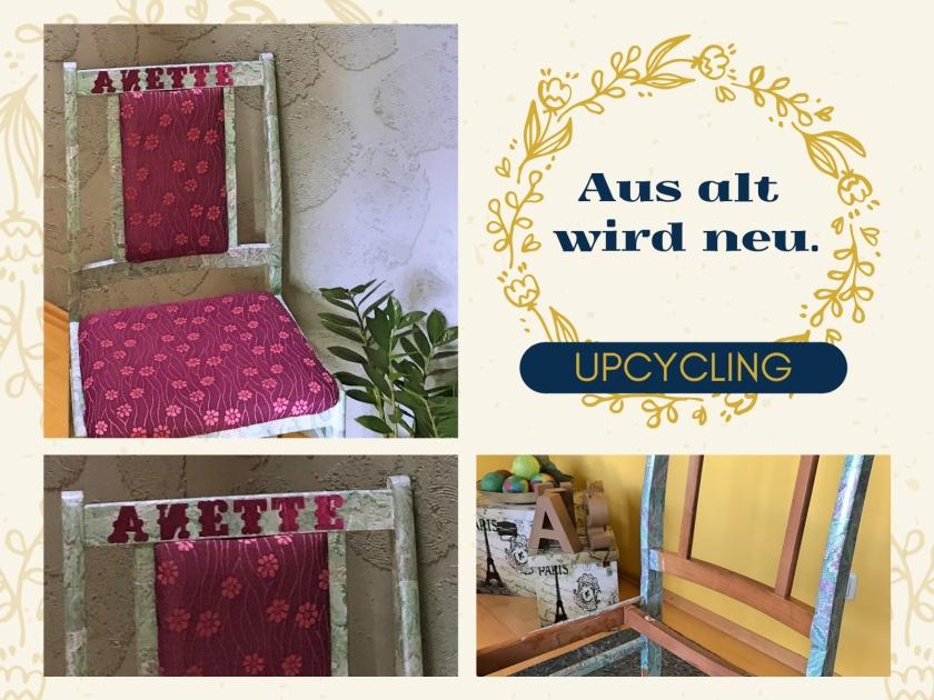 Diy Stuhl Upcycling Rundkariert
