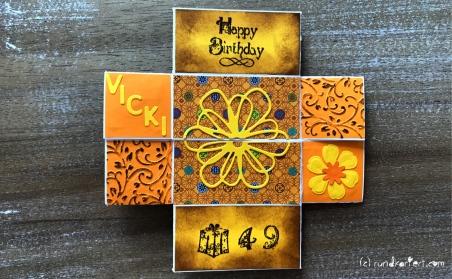 Endloskarte Geburtstag Distress Ink Vicki dritte Seite
