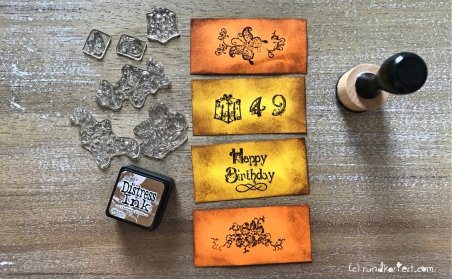 Endloskarte Geburtstag Distress Ink Vicki Stempeln Distress Ink