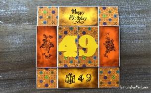 Endloskarte Geburtstag Distress Ink Vicki zweite Seite