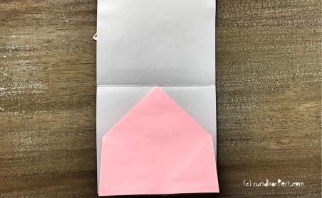 Explosionskarte Geburt Popup Karte Sizzix distress ink tombow