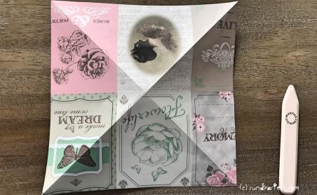 Explosionskarte Geburt Popup Karte Sizzix grundgerüst aufklappen