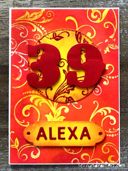 Karte Geburtstag Sizzix Distress Ink Alex
