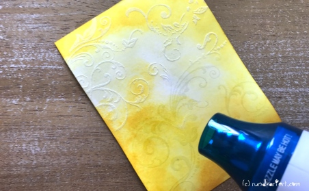 Karte Geburtstag Sizzix Distress Ink Embossing Fön