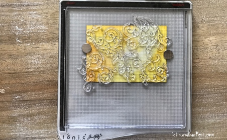Karte Geburtstag Sizzix Distress Ink Tim Holtz tonic