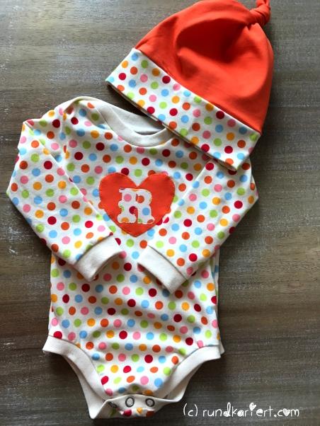 Nähen Baby Body Knotenmütze Freebook