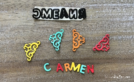 Ziehkarte Geburtstag Distress Ink Stempeln Carmen