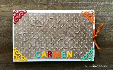 Ziehkarte Geburtstag Distress Ink Stempeln Stanzen
