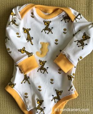 Nähen Baby Body Giraffe Jersey