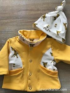 Nähen Baby Mütze Jersey Giraffe